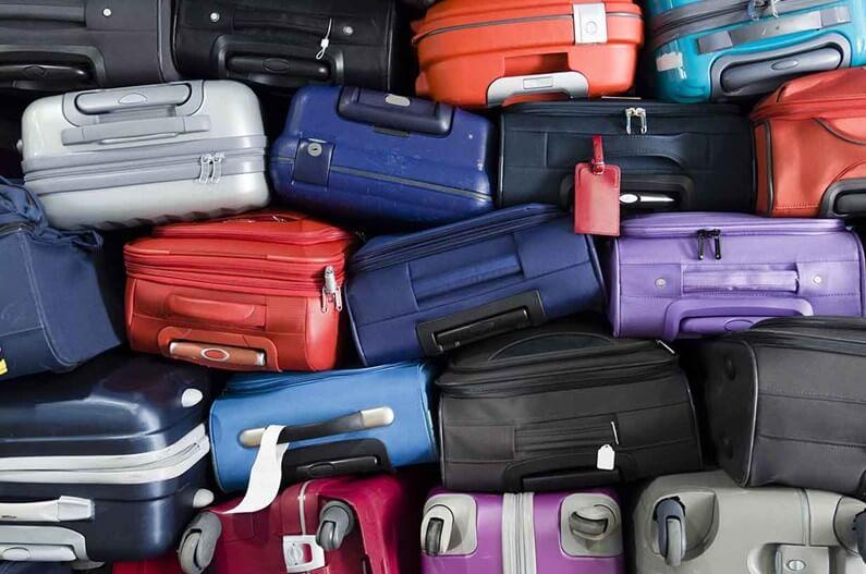 Плотно уложенные сумки