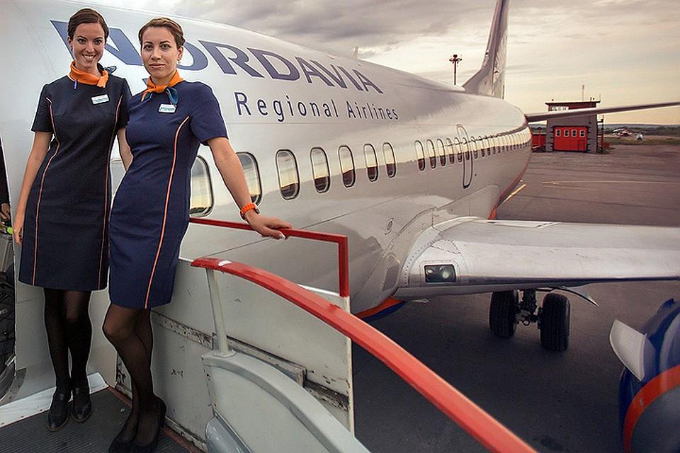 Стюардессы компании Nordavia