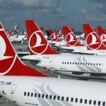 Самолеты Turkish airlines с багажом