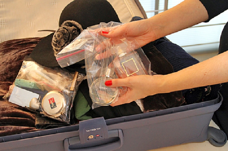 Духи в пакетике для багажа